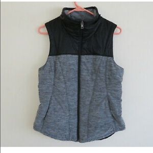 The North Face Pseudio Heather Gray & black vest